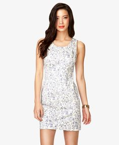 Sketched Floral Cutout Dress | FOREVER21 - 2000035168 - ordered in sz XS