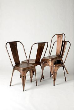 Copper Cafe` Chairs