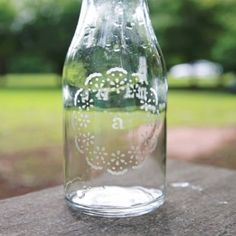 Check out this tutorial and see how easy it is to customize a glass with glass etching.