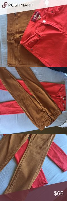 ❗️Lucky Jeans 2 for 1 deal❗️ Red Charlie Capri and Carmel Charlie Skinny size 8/29 Lucky Brand Jeans Ankle & Cropped