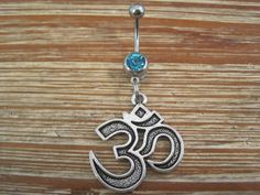 Belly Button Ring  Body Jewelry  Silver Om by BriellesJewels, $9.00