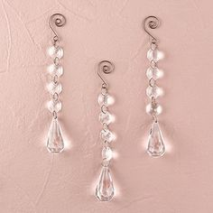 Acrylic Crystal Decorative Drops, Price/Packags of 3