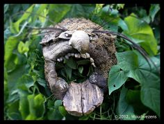 Woudwezens Masker beukenhout/ Mask beechwood by Woudwezens, via Flickr