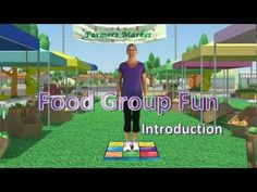 Food groups game that combines motor skills while learning food examples for each distinct food group