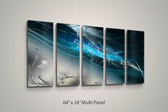Abstract Metal Wall Art - Blue Abyss