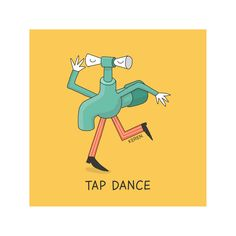 Items similar to Tap dance Print, Yellow Poster, Digital Print. on Etsy Visual Puns, Tap Dance, Word Play, Digital Prints, Doodles, Jokes, Creative, Poster, Yellow