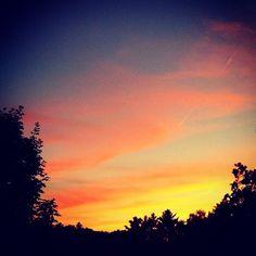 Sunset.  Easthampton, MA  instacanv.as/sparkie_p