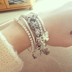 Mixing the brands together to create a gorgeous stack. This one in particular is delicate and girly #Pandora #Chlobo