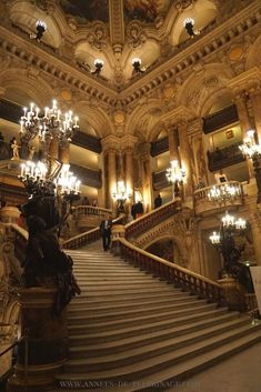 The stairs inside the Opera Garnier, Paris #vacationdestinations