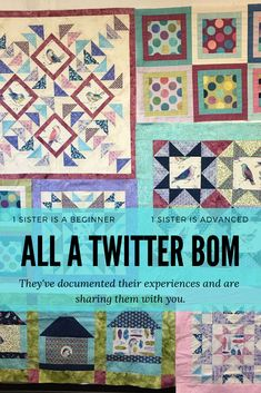Sisters—one a beginner, one an experienced quilters—are making the same All A Twitter block of the month project while living in different states. They've documented their experiences in, what is now, a 5-part series and are sharing their most recent successes and blunders with you.