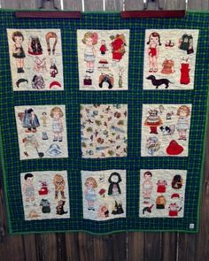 WORLD TRAVEL Paper Dolls baby quilt / quilted by HeritageAndHeart, $124.00