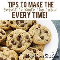 Food and Drink. Make the Perfect Chocolate Chip Cookie every single time!! Printable recipe included!