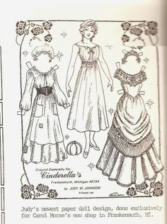 dollies to paint cut out and dresses paper dolls | sylvia kleindinst gloria larsen tere tronson and sandy vanderpool ...