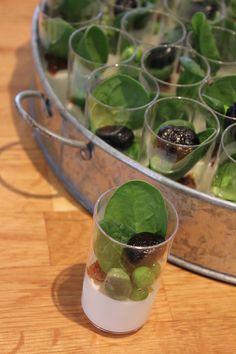 Panna cotta au chevre frais et petit legumes