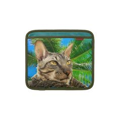 iPad Sleeve | Benson Cornish Rex Cat Tropical