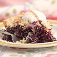 Wild blueberries are small and flavorful. They         can be found fresh at farmers' markets and         frozen at supermarkets and specialty foods         stores. The little bit of almond in the topping         amps up the flavor of the berries.