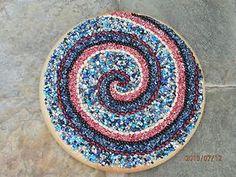"""#Art. #Handmade #abstract multicolor mixed media 15"""" d. lolipop spiral #walldecor. #decorative. #naturalmaterials #unique"""