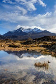 View of the Black Cuillin mountain Sgurr nan Gillean, Glen , Isle of Skye, Scotland