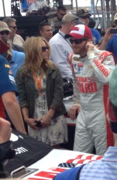 2-23-14 at Daytona pre-race with Amy. http://www.pinterest.com/jr88rules/nascar-2014/ #DaleJr2014