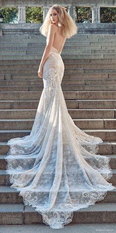 GALIA LAHAV fall 2016 #bridal sleeveless halter neck sheath lace #wedding dress (victoria) bv sexy glam open back long train #weddingdress #weddinggown #engaged #lace #gown #fashion