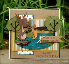 Cricut Father's Day Card. Campin Critter Cartridge by Court's Crafts.  *