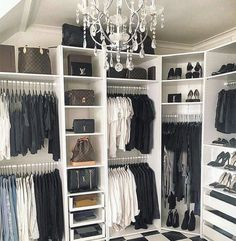 25 Trendy Walk In Closet Organization Diy Master Bedrooms Pax Wardrobe Alec Lightwood, Bedroom Wardrobe, Wardrobe Closet, Closet Clothing, Wattpad, Closet Chandelier, Black Chandelier, Organizar Closet, Fashion Closet