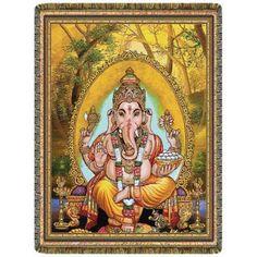 Tapiz Ganesha Señor de la Prosperidad