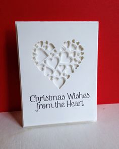 I recently purchased a set of Hero Arts cling sentiments. Christmas Cards To Make, Xmas Cards, Handmade Christmas, Holiday Cards, Card Making Inspiration, Making Ideas, 123 Cards, Impression Obsession Cards, Love Decorations