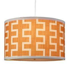 Geo Zipper Drum Shade Pendant- shades of light Chandelier Shades, Chandelier Lighting, Drum Pendant, Pendant Lights, Blue Color Schemes, Fabric Shades, Home Lighting, Bedroom Lighting, Drum Shade