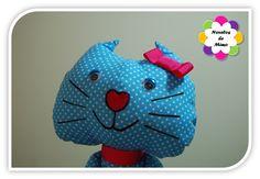 Princesa Verinha - gatinha em tecido  - Ref. 05 Pormenor