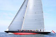 Rainbow, one of the majestic J class fleet, built by Holland Jachtbouw.