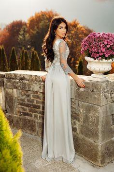 Rochie lunga gri cu dantela la bust Rn 2111 Atmosphere Fashion, Gray Dress, Wedding Dresses, Bride Dresses, Bridal Gowns, Alon Livne Wedding Dresses, Wedding Gowns, Grey Dresses, Wedding Dress
