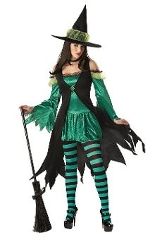 Emerald Witch Holiday Party Costume git Ur #halloweenCostume #BIGselection BIG #namebrand www.SouthernLeathers.com #bestprice