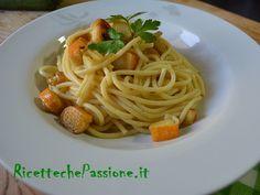Un primo che adoro, semplicissimo da preparare, #spaghetti con #surimi al #curry