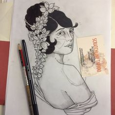 Susanna Widmann tattoos at Scratchline Tattoo, Kentish Town, London She specialises in the following styles and images - Illustrative, Graphic, Birds, Ladies, Black and grey, Colour, Skulls, Animal, Geisha, large and small scale tattoos Drawing, Illustration, Tattoo design