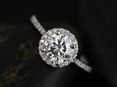 Kimberly Medio Size Platinum Thin Round FB by RosadosBox on Etsy, $1550.00