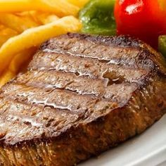 Grilled Beef Steak with Garlic Butter. Really, this recipe is amazing. Try it. Make it on your George Foreman Grill. I'm not kidding. It's really good.