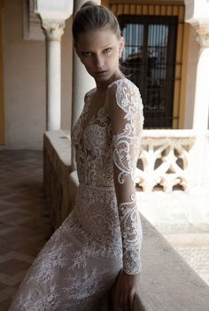 pearl wedding dress by Alon Livne White