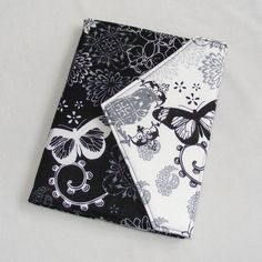 eReader Cover - Book Style  Fits Kindle, Nook, Kobo and more    Black and White Nature print