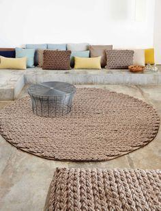 gan trenzas circular rug
