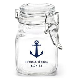 These mason jar favors from thekot.com are perfect to fill with candy and anything else that needs rounding up at your reception. Get your rebate from RebateGiant.
