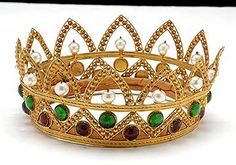 Italian Antique Jeweled Crown from an Opera Costume