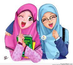 Cute and funny Hijaber Cartoons Muslim Girls, Muslim Women, Muslim Couples, Hijabs, Hijab Barbie, Muslim Images, Wallpaper Hp, Doodle Girl, Islam Marriage