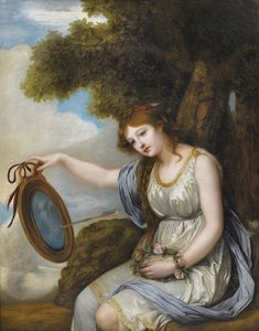 Jean-Baptiste Greuze (French, Oil on canvas. This painting delivers a message. This young woman holds in her hand an oval frame representing a pierced heart by an arrow, symbol of sentimental. Painting Of Girl, Painting Prints, William Adolphe Bouguereau, Girl Artist, Jean Baptiste, Oval Frame, Impressionist, 18th Century, Oil On Canvas