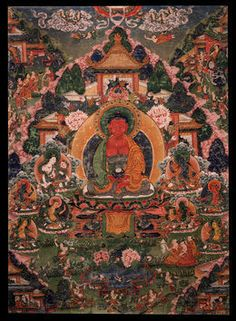 Buddha Amitabha in His Pure Land of Sukhavati, 18th century, Rubin Museum of Art