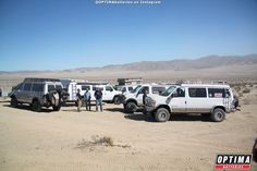 Whole lot of Sportsmobile vans...nearly all loaded with Aluminess gear!  Taken near King of Hammers