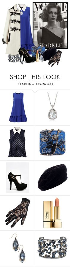 """Untitled #27"" by athena637 ❤ liked on Polyvore featuring Cynthia Rowley, Swarovski, Moschino, Qupid, Yves Saint Laurent and Alexis Bittar"