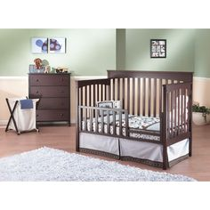 Found it at Wayfair - Petite Paradise 4-in-1 Elite Room In A Box 5 Piece Convertible Crib Set
