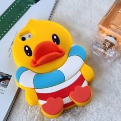 RAYTOP Cute Silicone Case for Apple iPhone 5 5s Back Cover Huge Swimming Ring Yellow Baby Duck 3D Animal Cartoon Fun Cool Lovely Gift for Kids Teen Girls Women Kawaii Unique Creative Design RAYTOP http://www.amazon.com/dp/B00KJEL362/ref=cm_sw_r_pi_dp_kRQxub0DM7HMW