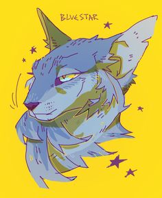 tried to doodle in photoshop but… no pen pressure haha haven't drawn much warriors wise lately, so here's a bluestar